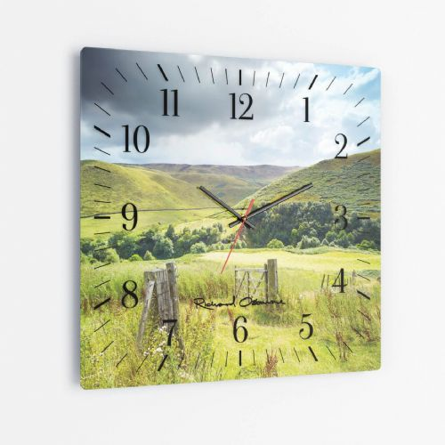 Snake Pass, Peak District - Square Glass Clock